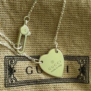 Authentic Gucci heart logo bracelet